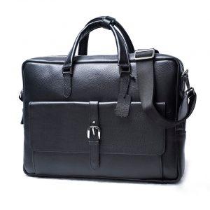 Túi xách công sở nam da Alran cao cấp GCE12 đen