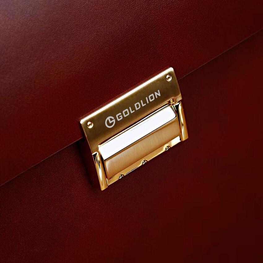 Cặp da khóa số cao cấp Goldlion GL13 nâu & đen