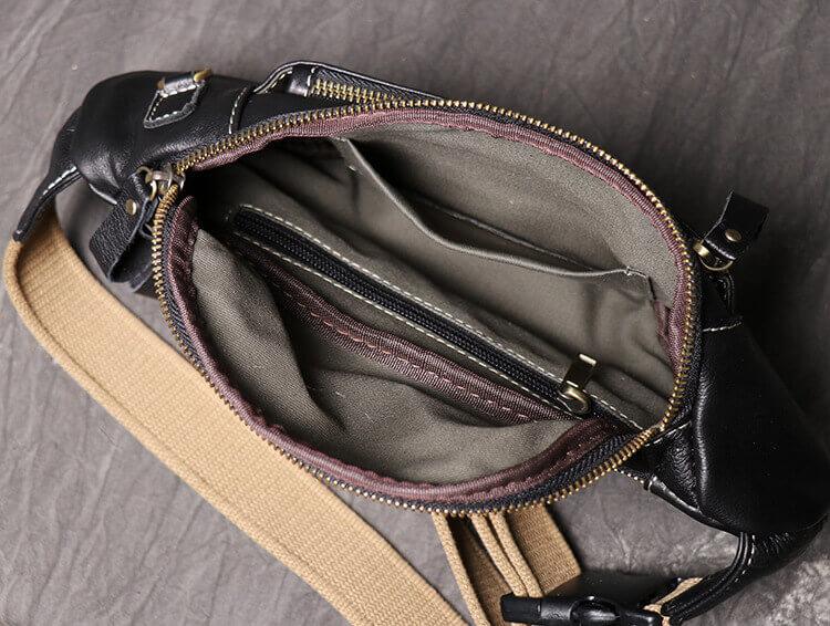 Túi đeo chéo ngực nam da bò mềm BZ21