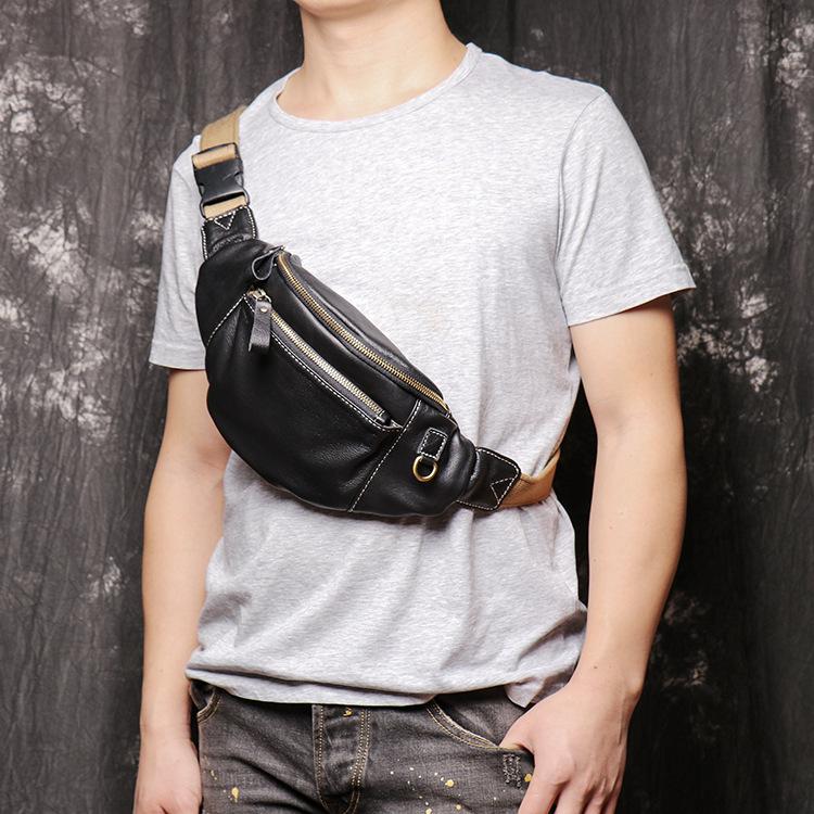 Xu hướng túi da đeo chéo - túi da đa năng cho nam giới hiện đại